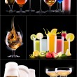 Different alcohol drinks set — Stock Photo