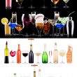 ������, ������: Different alcohol drinks set