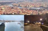 Collage landmarks of Prague — Stock Photo