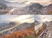 Panoramic view of Salzburg skyline — Stock Photo