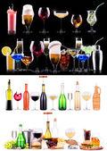 Inny alkohol pije zestaw — Zdjęcie stockowe