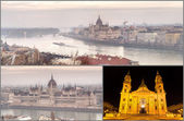 Famous Places in Budapest, Hungary — Stock Photo