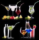 Different alcohol drinks set — Stockfoto