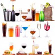 Постер, плакат: Different alcohol drinks set