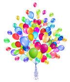 Balões voadores isolados — Foto Stock