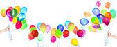Palloncini volanti isolati — Foto Stock