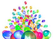 飞行的气球隔离 — 图库照片