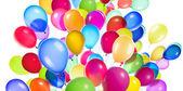 Flying balloons isolated — Stock Photo