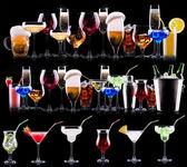 Alcohol diferentes bebidas conjunto — Foto de Stock