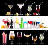 Verschillende alcohol drinkt set — Stockfoto