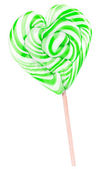 Bright colorful lollipop over white background — Stock Photo
