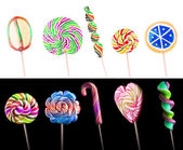 Bright colorful lollipop set — Stock Photo