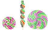 Set di lecca-lecca colorati luminosi — Foto Stock