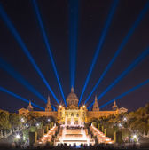 Night view of Magic Fountain in Barcelona — Stock Photo