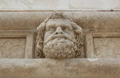 Head of a man - sculpture of the Sibenik Cathedral — Stock Photo