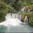 Stock Photo: Krkwaterfalls in greenery, Croatia