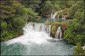 Krka waterfalls in greenery, Croatia — Stock Photo