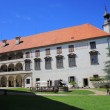 Ptuj castle courtyard, Slovenia, Europe — Stock Photo