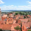 Ptuj and River Drava, Slovenia — Stock Photo
