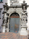 Baroque portal, Seminary palace, Ljubljana, Slovenia — Stock Photo