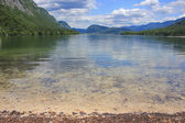 Lake Bohinj, Julian Alps, Slovenia — Stockfoto