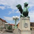Dragon Bridge - secession monument, Ljubljana — Stock Photo