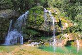 Wirje wasserfall, julische alpen, slowenien — Stockfoto