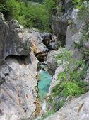 Evorsion channel of Soca river, Slovenia — Stock Photo