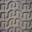 Stock Photo: Metal surface with linear pattern
