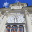 Richly decorated facade of the church, Ptuj — Stock Photo