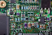 Dirty circuit board — Stock Photo