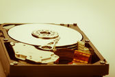 Warm hard disk shot — Stock Photo