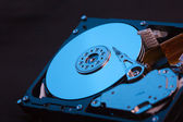 Blue hard disk — Stock Photo