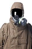 Portrait of a Man in Hazard Suit — Stock Photo