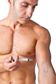 Muscle and needle — Stock Photo