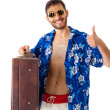 Wealthy tourist — Foto Stock