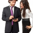 Using a mobile device — Stock Photo #20504623