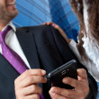 Business mobile technology — Stock Photo