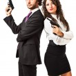 Постер, плакат: Secret agent and his woman