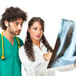 Looking at a chest radiography — Stock Photo #20505993
