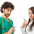 Evil doctors — Stock Photo #20506157