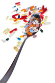 Spoon-o-meds — Stock Photo