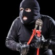 Stock Photo: Preparing for burglary