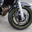 Front wheel - Stock Photo
