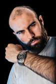 Man with watch — Stock Photo