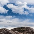 Sky over mountains — Stock Photo