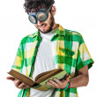 Hard reading — Stockfoto