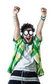 Cheering guy — Stock Photo