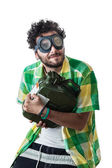 Stealing gas — Stock Photo