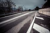 Estrada escura — Foto Stock